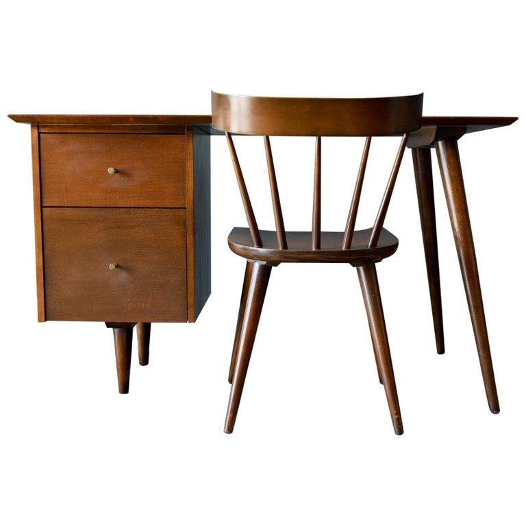 Paul Mccobb Planner Group Desk And Chair Circa 1955