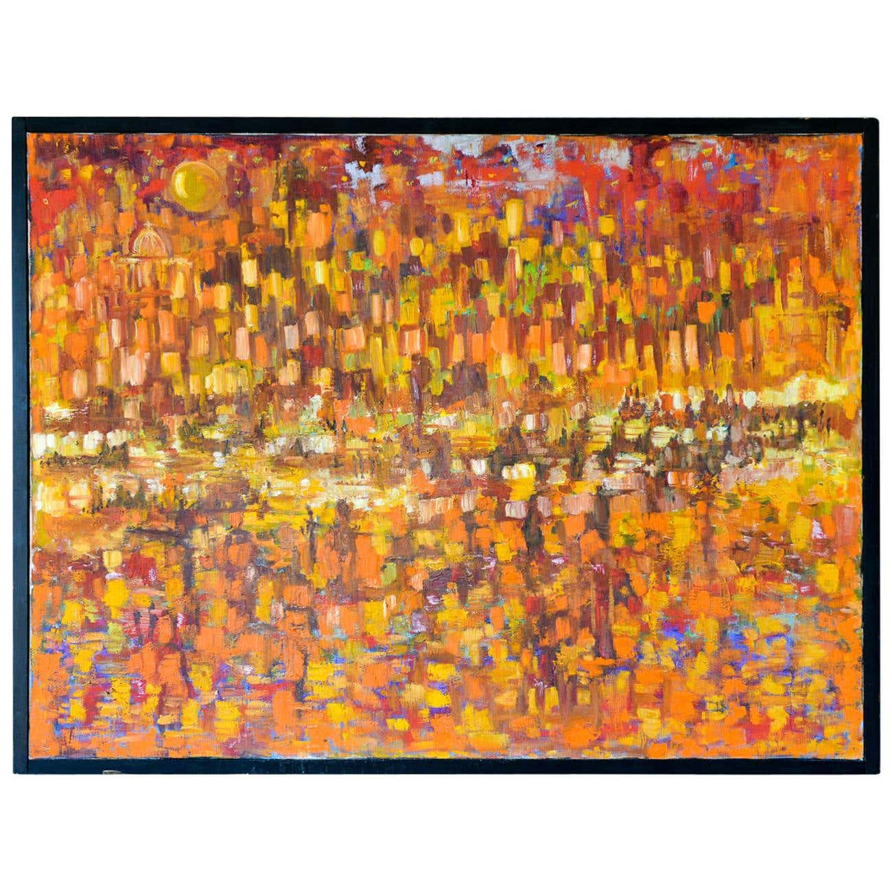 Collision Coalescence Original Abstract Oil PAINTING on Canvas